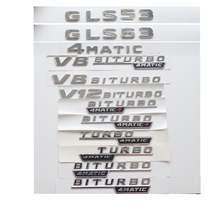 Хромированные буквы gls53 gls63 gls63s эмблема v8 v12 biturbo