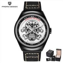 PAGANI DESIGN Men's Watches Classic 3D Skull Punk Style Mechanical Watch Men Automatic Date Clock Luxury Brand Automatic Watch