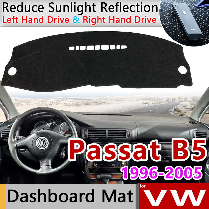 For Volkswagen VW Passat B5 B5.5 1996~2005 Anti-Slip Mat Dashboard Cover Pad Sunshade Dashmat Carpet Accessories 1998 1999 2000