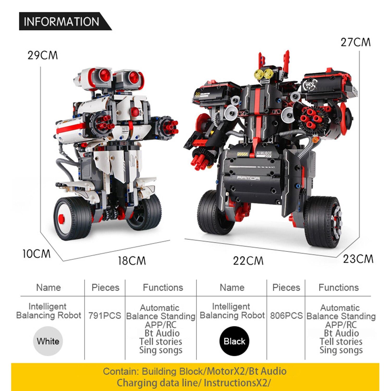 RC Roboter RC Pädagogisches Bausteine 2,4G 806PCS DIY Montage Ausgewogene Programmierung RoboRemote Control APP Steuerung für Kinder - 3
