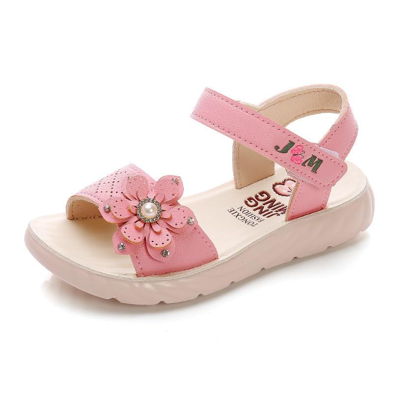 Flower Children's Sandals Toddler Girl Shoes Summer Kids Sandal Girls School Shoes Baby Beach Shoes Zapatos Para Nena Ks589