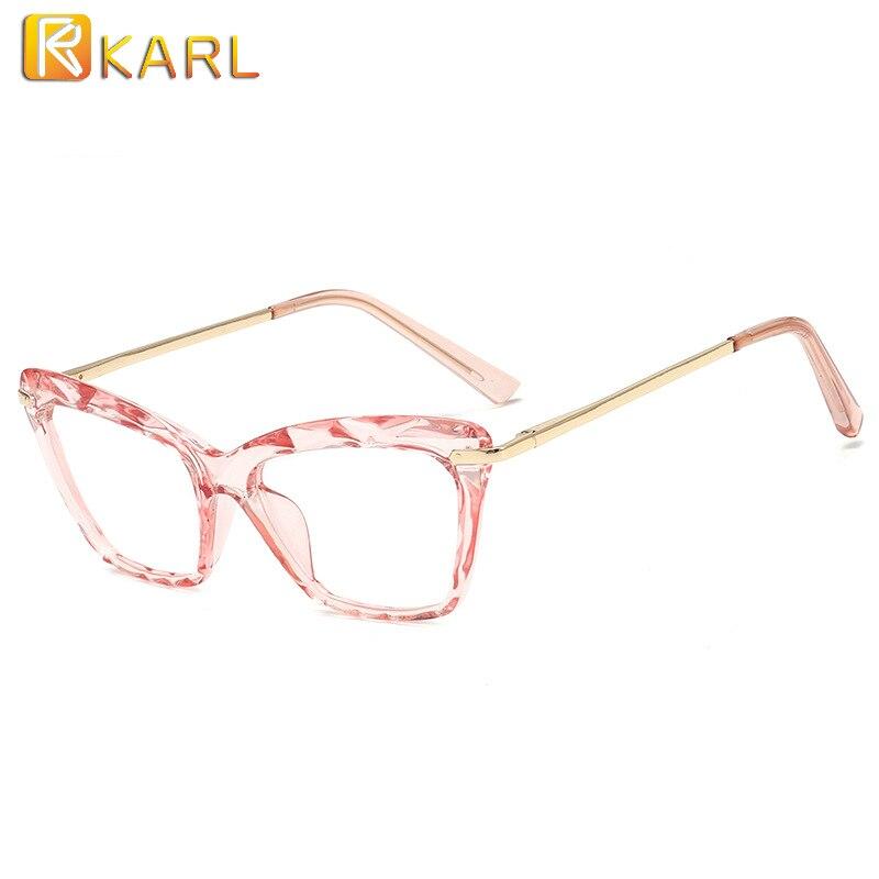 Retro Square Pink Clear Glasses Women Optical Eye Glasses Frame Fashion Computer Glasses Frames For Ladies Transparent Eyewear
