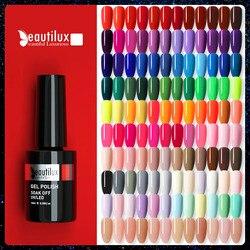 Beautilux Fashion Gel Nail Polish 120 Colors Professional Salon Nails Art Gels Varnish UV LED Semi Permanent Nail Lacquer 10ml
