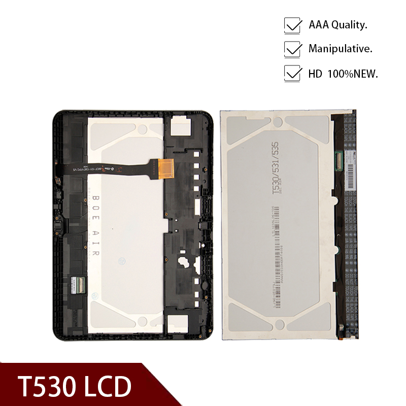 Original 10.1inchLCD Display For Samsung Galaxy Tab 4 SM-T530 T535 LCD Display Touch Screen Digitizer Assembly With Frame