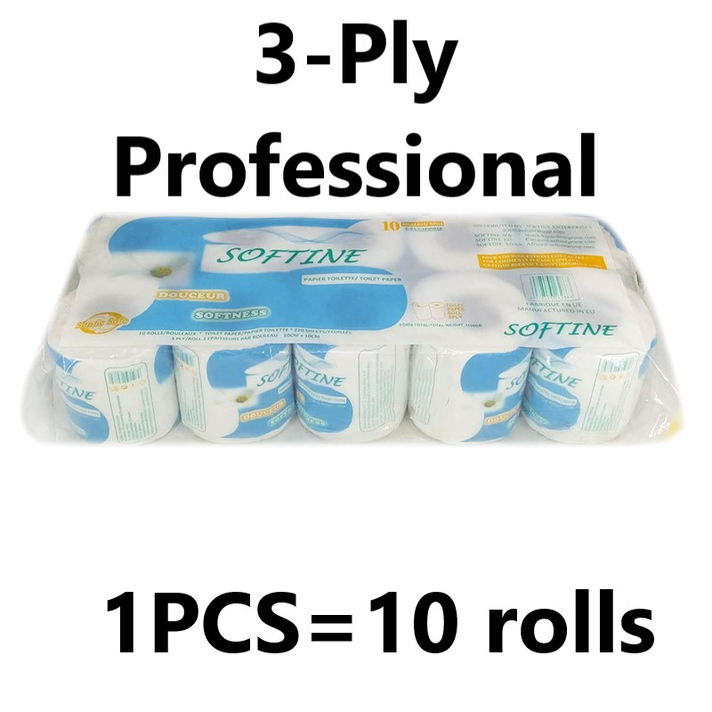 10 Pcs Three Layer Toilet Tissue Silky Smooth Soft Toilet Paper Toilet Roll Paper Home Bath Skin-friendly Paper Towels New 2020