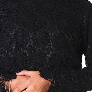 Image 5 - אלגנטי מוסלמי חולצות וחולצות נשים ארוך שרוול תחרה השפל חולצות משרד גבירותיי אביב חלול החוצה האסלאמי דובאי