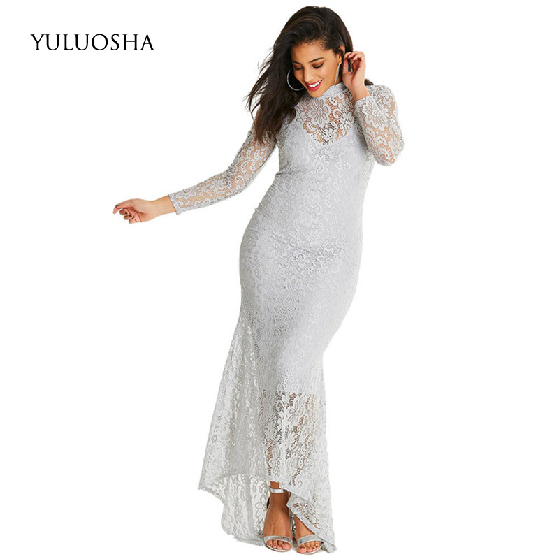 YULUOSHA Mothers Dress for Wedding Sexy White Dresses Mother Groom Mermaid Appliques Lace Bride Mother Dress Vestidos De Fiesta