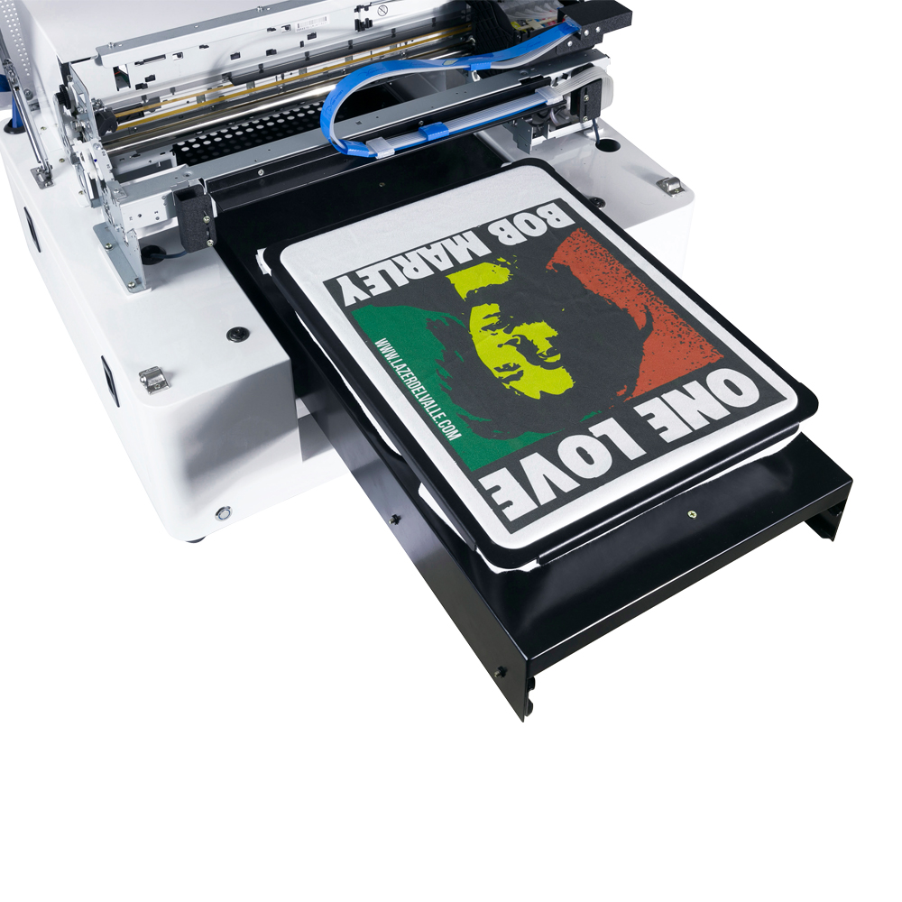 Flatbed DTG Printer For T-shirt Printing Machine A3 Size Multicolor Direct To Garment Printer