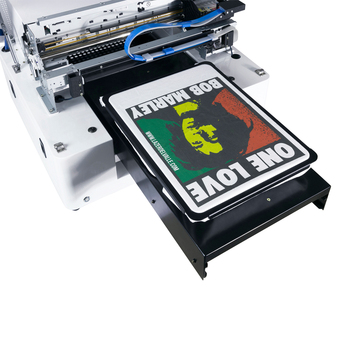 Fully Automatic t-shirt printing machine A3 size Multifunction flatbed DTG direct to garment printer