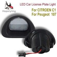 2pcs Error Free Led Number Plate Bulbs 18 SMD White Led License Plate Light Lamp for CITROEN C1 2005-13 for Peugeot 107 2005-14 цена 2017