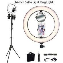14 Inch Photo LED Selfie Fill Light 3500-5500k Camera Products  Phone Ring Lamp Tripod Led Selfie Ring Light фонарь aceshley led cелфи кольцо aceshley selfie ring light