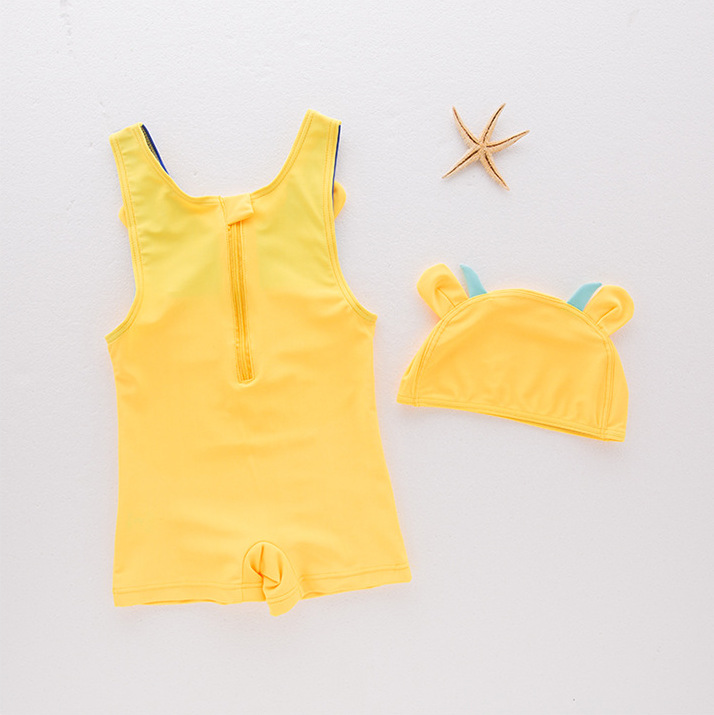 One-piece Swimsuit For Boys Cow Pattern Double Color Cute Child Models