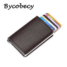 Мужской кошелек для кредитных карт кожаный с защитой от кражи