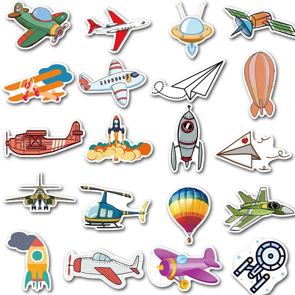 Купить с кэшбэком 40Pcs Skateboard Stickers Flight Tool Hot-air Ballon Graffiti Adhesive Paper Amazon Hot Selling Luggage Guitar Waterproof TZ007G