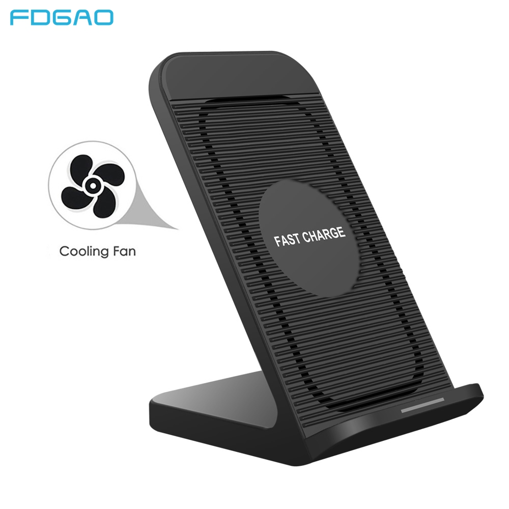 Cep telefonları ve Telekomünikasyon Ürünleri'ten Kablosuz Şarj Cihazları'de FDGAO 10W Kablosuz Şarj Cihazı Samsung S10 S9 S8 Artı Not 10 9 Qi Hızlı Şarj iPhone XS Için max XR X 8 11 Hızlı şarj standı title=