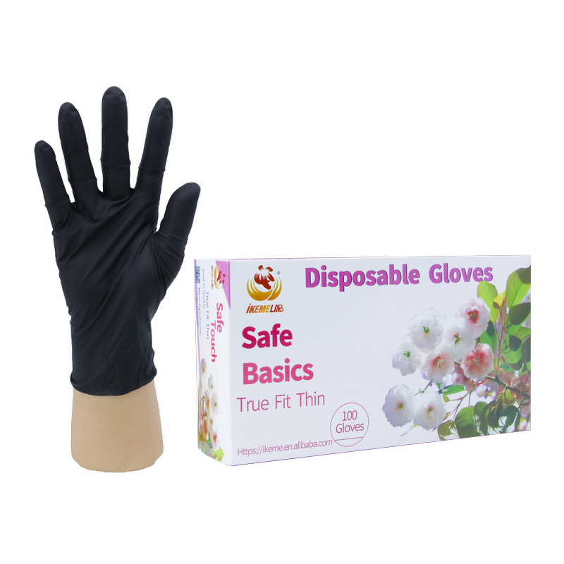 100PCS Nitrile  Gloves Disposable Protective Gloves Tattoo Kitchen Baking Housework Gloves
