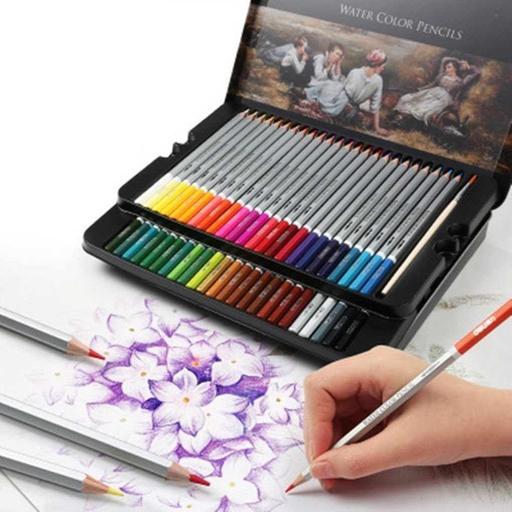 24/36/48 Colors Watercolor Pencils Drawing Pen Art Set Children Kids Painting Sketching Water Color Pencils Kit