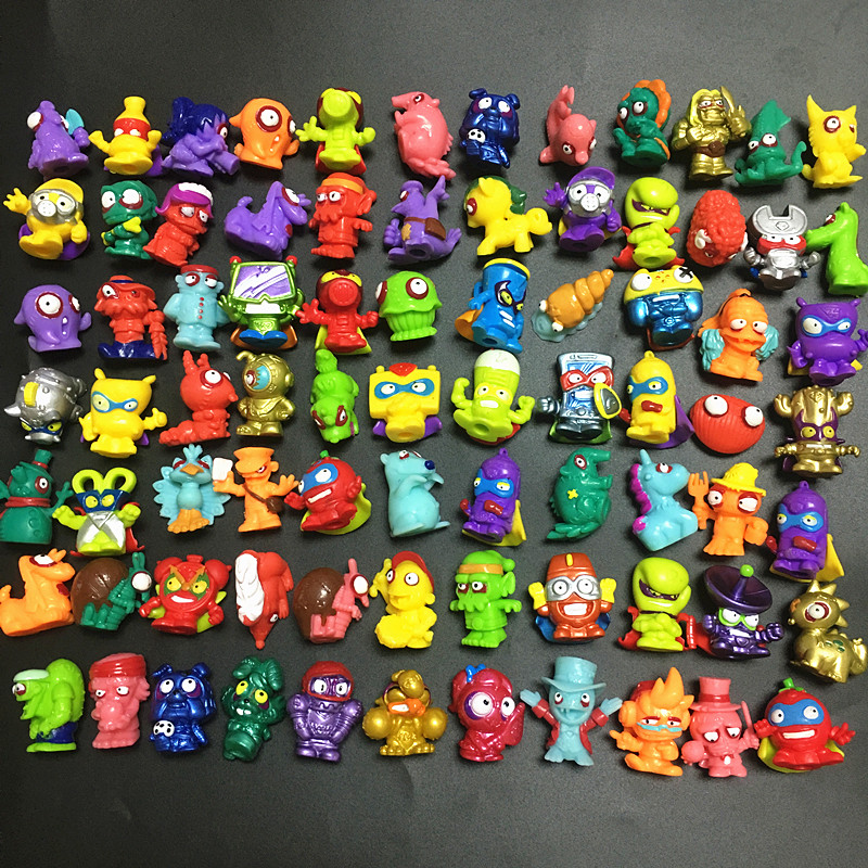10-20pcs/lot Superzings Zomlings Action Figures Dolls 3CM Super Zings Garbage Collection Toys Model For Children Christmas Gift