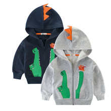 Autumn Spring Kids Jacket Children Cartoon Crocodile Coat Boys Outerwear Coats Windbreaker Baby Clothes Boy Hooded Clothing(China)