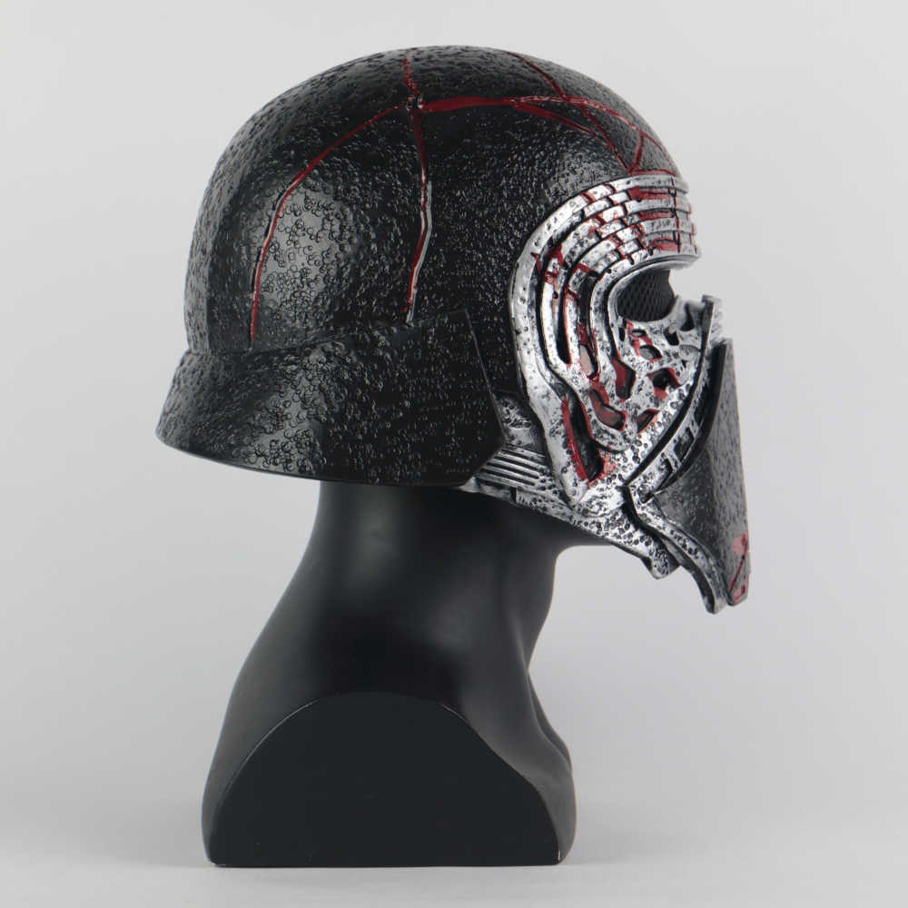 New Kylo Ren Helmet Cosplay Star Wars 9 The Rise Of Skywalker Mask Props Pvc Star Wars Helmets Masks Halloween Party Prop Aliexpress