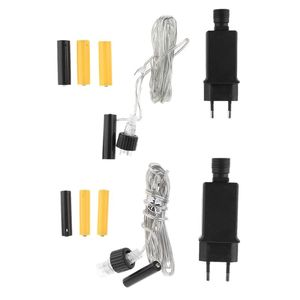 Image 1 - EU Plug AA AAA Battery Eliminator Replace 2x 3x AA AAA Battery Power Supply Cable for Radio Holiday LED Light Electric Toy
