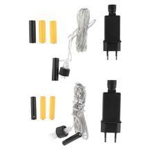 Ue plug aa aaa bateria eliminador substituir 2x 3x aa aaa cabo de alimentação da bateria para o feriado de rádio led luz brinquedo elétrico