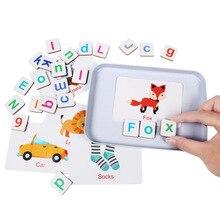 60 muster Tiere Zauber Alphabet Puzzles Magnetische Puzzle lernen Englisch Spielzeug Holz Kinder Puzzle Spielzeug Set Kind Bildung Spielzeug