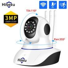 Hiseeu 1080P 3MP IP Camera WIFI Wireless Smart Home Security Camera Surveillance 2-Way Audio CCTV Pet Camera Baby Monitor ICsee