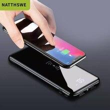 NATTHSWE Wireless Power Bank Full Screen Portable 10000 MAh