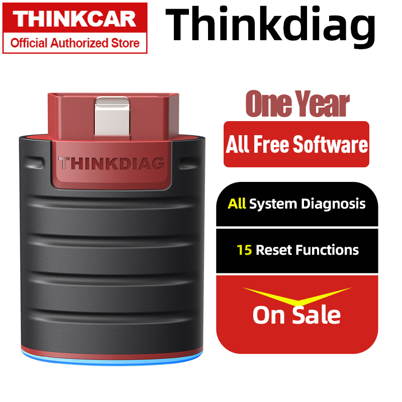 Автосканер THINKDIAG с бесплатным разрешением, один год, автоматический сканер OBD2, полноценный сканер OBDII, автомобильный диагностический инстру...