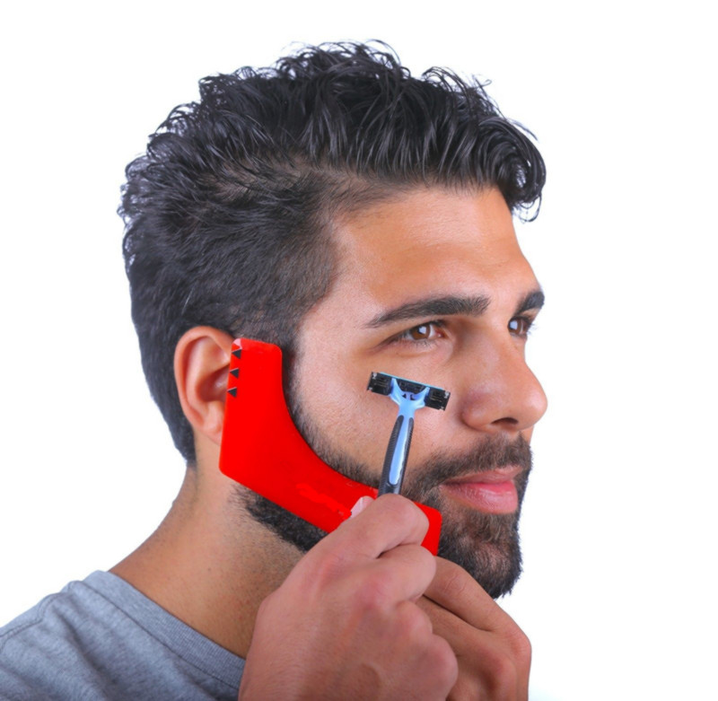 2019 New Comb Beard Shaping Tool Sex Man Gentleman Beard Trimmer Template Comb Hair Cut Hair Molding Beard