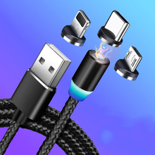 Magnetic Cable Fast Charging Micro USB Lightning Cable Magnet Charger Type C USB