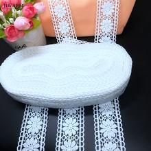 10yard 4.3cm High Quality lace fabric ribbon sewing trim wedding dress accessories DIY women skirt decoration hollow out embroid