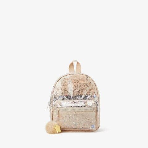 Bola de Cabelo Ornamentos de Pelúcia Mochila das Crianças Bolsa de Compras Meninos e Meninas Lantejoulas Transparente Senhoras Novo Estudante Bolsa