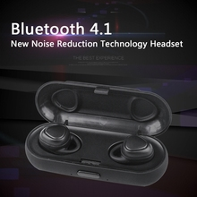 Mini Bluetooth Wireless Earphone  In-ear Sport Headset Handfree Noise Reduction Earbuds Stereo Bass Headphone with Charging Dock bluetooth earphone wireless in ear noise reduction bluetooth headphone with microphone sweatproof stereo earphone