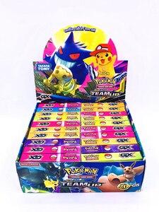 Image 2 - Juego de cartas de pokemon gx MEGA brillante para niños, juego de 324 uds, 100 uds, divertido francés e inglés, cartas de batalla
