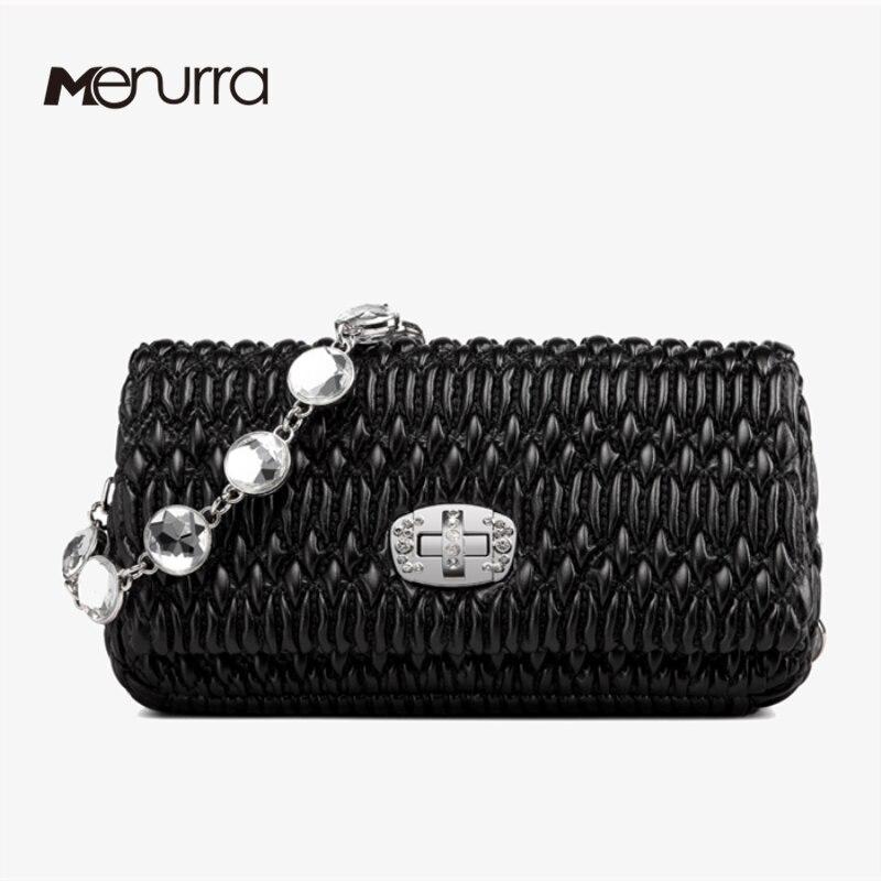 Fashion Luxury Handbags Women Bags Designer Sheepskin Women Shoulder Bags Messenger Bags Diamonds Parts Eveing Bags-in Shoulder Bags from Luggage & Bags    1