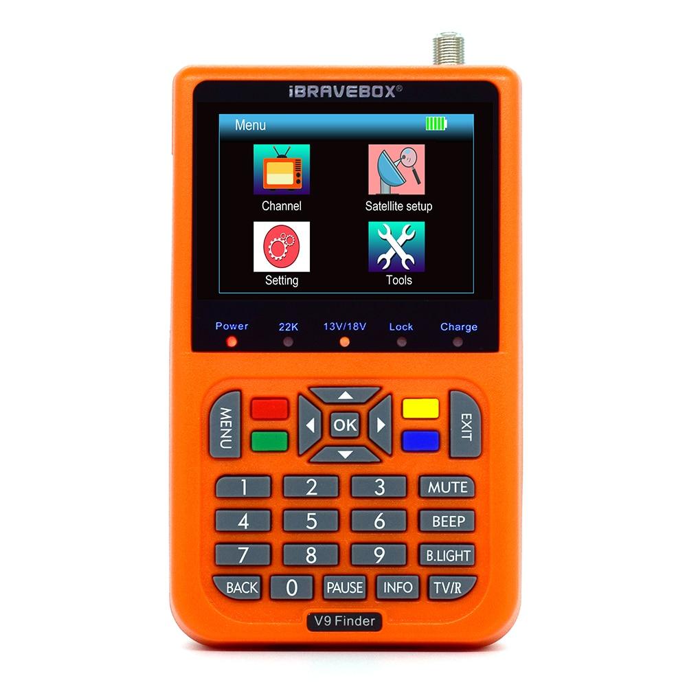 IBRAVEBOX V9 Finder Détecteur de Satellite Numérique LCD DVB-S2 MPEG4 H.265 Mieux SATLINK WS-6933 6906 6916 6980
