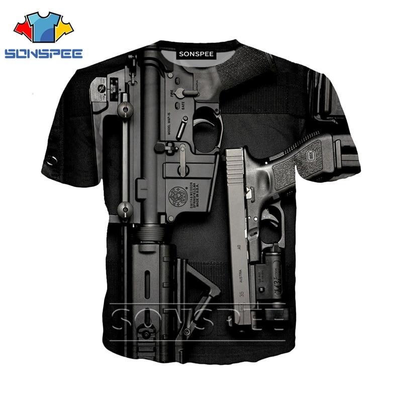 Anime 3d Print Funny T Shirt Men Gun Streetwear Women Top Bullet Fashion T-shirt Kids Harajuku Tee Funny Shirts Homme Tshirt A30