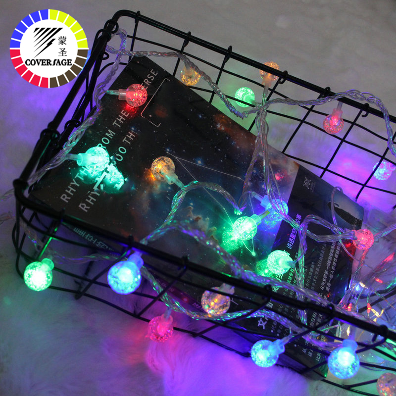 Coversage Christmas Fairy Led String Battery Lights Garden Luces Led Navidad Indoor Curtain String Decorative Lights