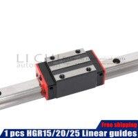 Frete grátis hgh15ca hgw15cc trilho de guia linear 100 900 1000 mm comprimento quadrado trilho linear para peças cnc hgh25ca slider bloco