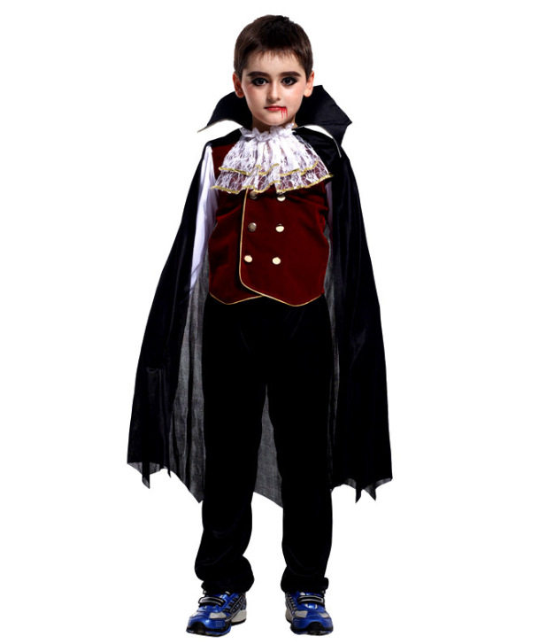 Halloween Cosplay Clothing Children Makeup Ball Vampire Dressing Up Costume With Mantle Small CHILD'S Clothing