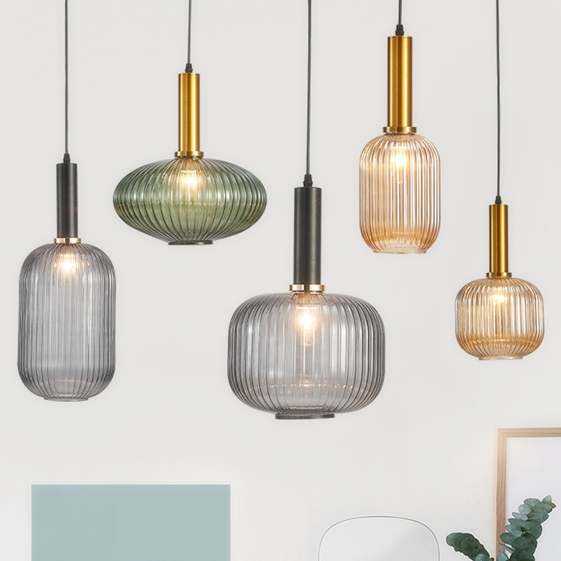 Nordic Restaurant Pendant Lights Glass Pendant Lamp Restaurant Bar Hanging Lamp Bedroom Living Room Kitchen Suspension Luminaire