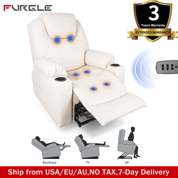 Luxury Electric Massage Chair Power Lift Recliner Chairs Leisure Soft Sofa Full Body Shiatsu Massage Armchair Father's Day Gift 1