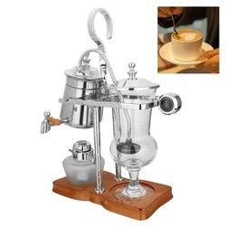 Siphon Coffee Maker Stainless Steel Belgium Belgian Royal Balance Syphon Coffee Maker Brewer Tea Pot Coffee Machine Filter Set