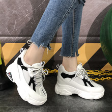 2020 Spring Shoes Women Hidden Heel Sneakers Comfy Soft Platform Wedges Trainers Woman Black White Casual Shoes Tenis Feminino(China)