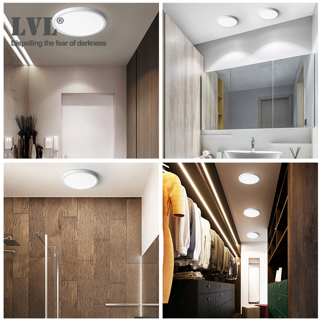 LED Ceiling Light 6W 9W 13W 18W 24W Modern Surface Ceiling Lamp AC85-265V For Kitchen Bedroom Bathroom Lamps 6