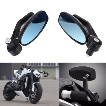 1Pair Motorcycle 7/8 Handle Bar End Rearview Side Mirrors Fit for Honda for KTM Hot image