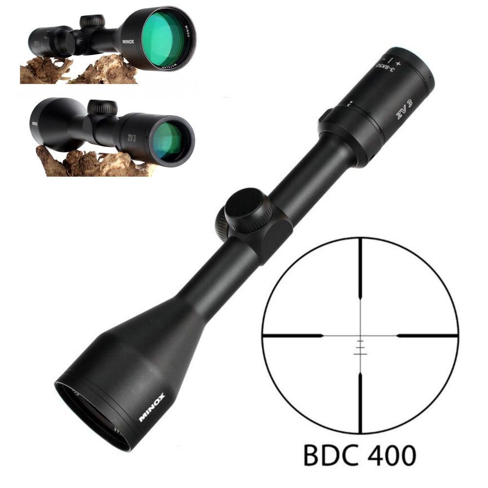 MINOX ZV 3 3 9X50 BDC 400 réticule portée de fusil de chasse 1 pouce Tube Long soulagement des yeux tactique optique lunette de visée