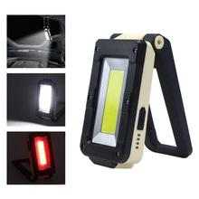 цена на Multi-function 3-in-1 2 Mode rechargeable Portable LED COB Camping Tent Work Magnetic Folding USB Torch LED Flashlight Outdoor